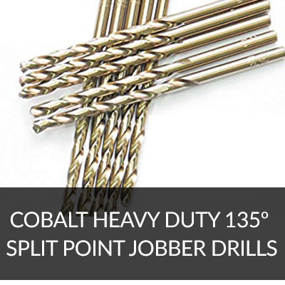 20 PCS 21//64 Fractional HSS Jobber Drill Bits,Heavy Duty 135 Split Point USA